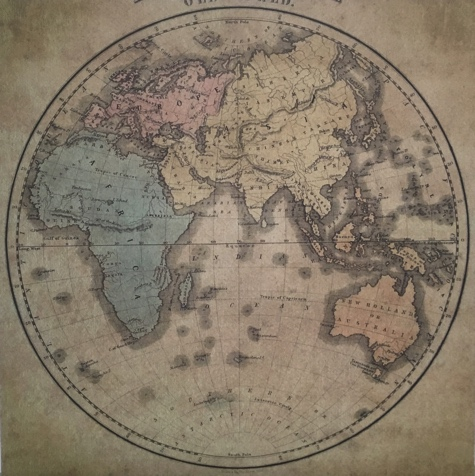 Old World Map 12x12 Scrapbooking Paper