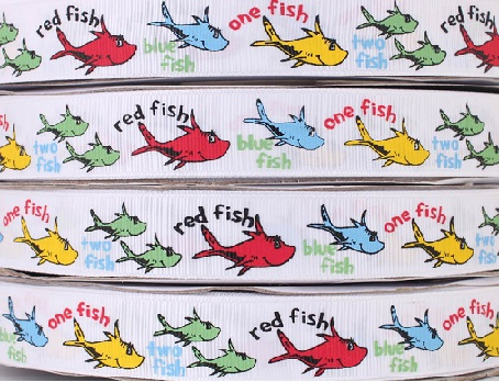 One Fish Two Fish Self Adhesive Scrapbooking Ribbon