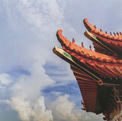 Oriental Roof 12x12 Scrapbooking Paper