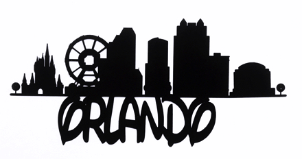 Orlando Scrapbooking Laser Cut Title with Skyline