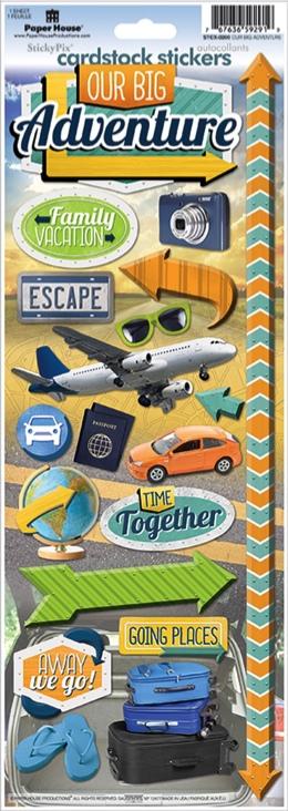 Our Big Adventure Cardstock Scrapbooking Stickers