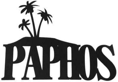 Paphos Scrapbooking Laser Cut Title with palms