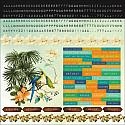 Paradiso 12x12 Cardstock Scrapbooking Stickers and Borders