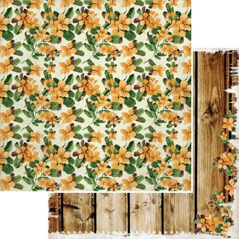 Paradiso Flowers 12x12 Double Sided Scrapbooking Paper