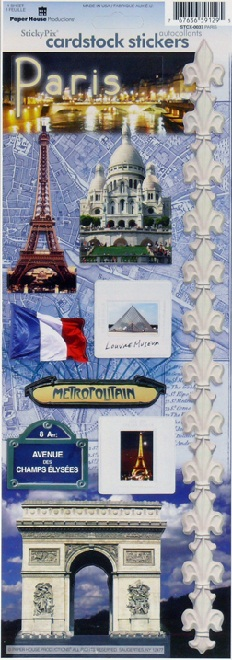 Paris Cardstock Scrapbooking Stickers