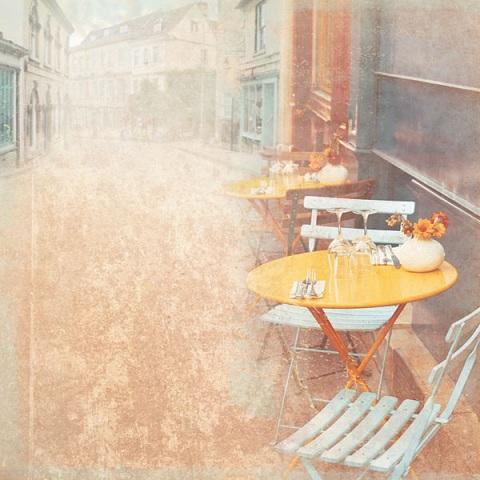 Parisian Cafe 12x12 Scrapbooking Paper