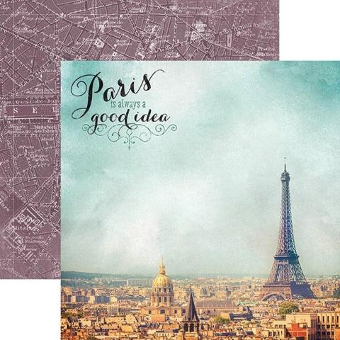 Paris is Always 12x12 Double Sided Scrapbooking Cardstock