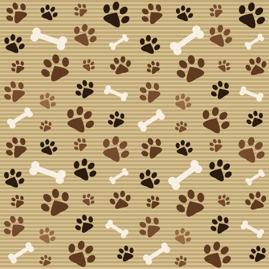 Paws and Bones 12x12 Scrapbooking Paper