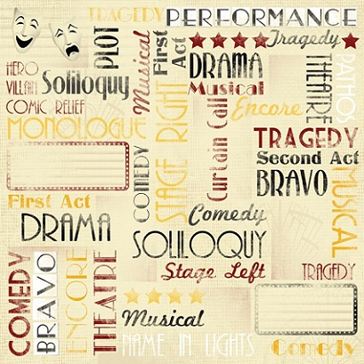 Performance Collage 12x12 Scrapbooking Paper