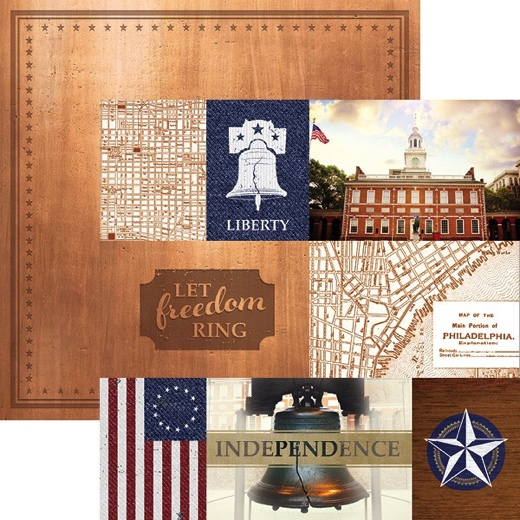 Philadelphia Tags 12x12 Double Sided Scrapbooking Paper