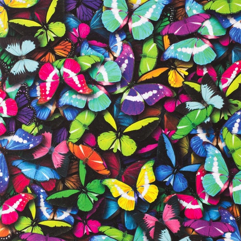 Photo Real Butterflies 12x12 Scrapbooking Paper