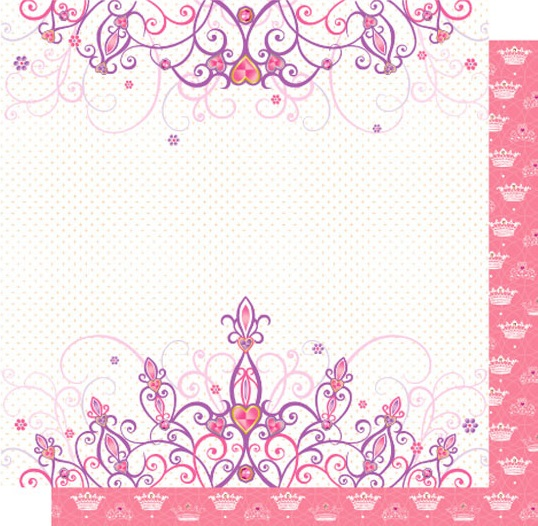 Tiara 12x12 Double Sided Glittered Scrapbooking Cardstock