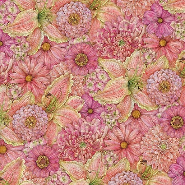 Pink Floral 12x12 Scrapbooking Paper