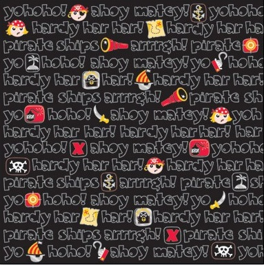 Pirates 12x12 Scrapbooking Paper with Foil