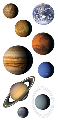 Planets Scrapbooking Mini Stickers