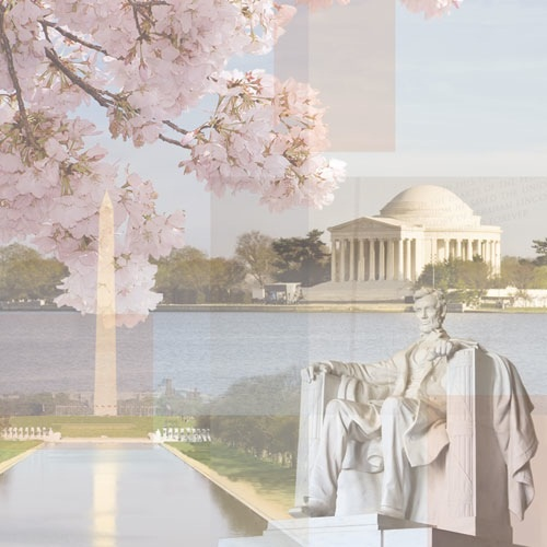 Presidential Monuments Collage 12x12 Scrapbooking Paper