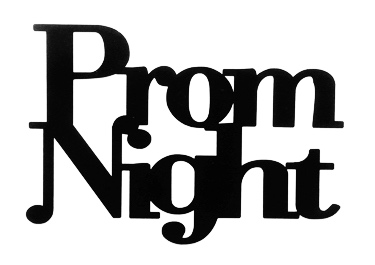Prom Night Scrapbooking Laser Cut Title