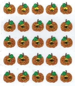 Pumpkins Glittered Jolees 3D Scrapbooking Stickers