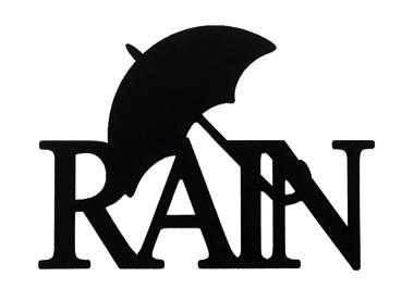 Rain Scrapbooking Laser Cut Title with Umbrella