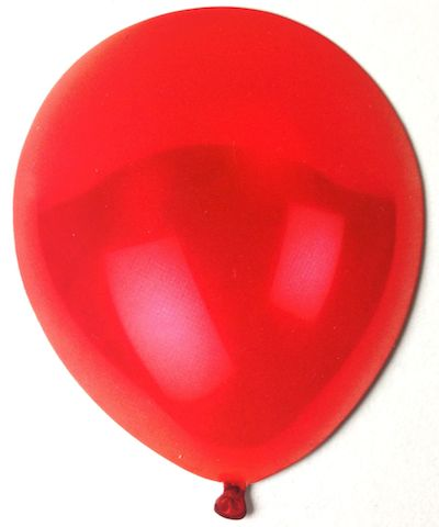 Red Balloon Scrapbooking Die Cut