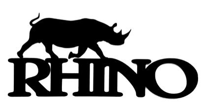 Rhino Scrapbooking Laser Cut Title with rhino