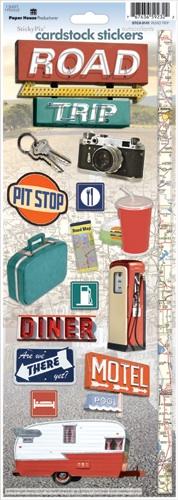 Road Trip Cardstock Scrapbooking Stickers
