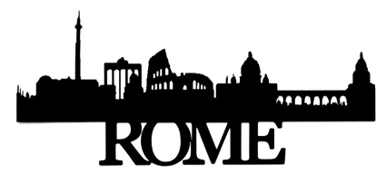 Rome Scrapbooking Laser Cut Title with Skyline