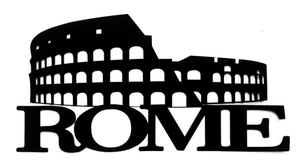 Rome Scrapbooking Laser Cut Title with Colosseum 1