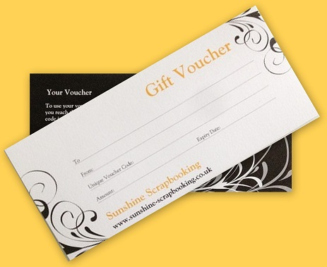 Gift Vouchers for Sunshine Scrapbooking
