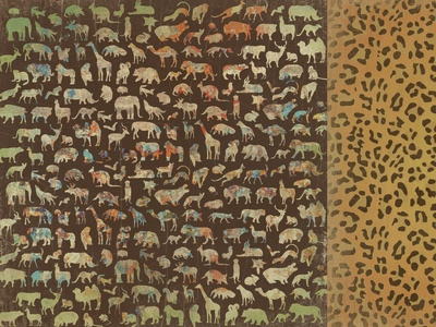 Into the Wild Animals 12x12 Double Sided Scrapbooking Paper