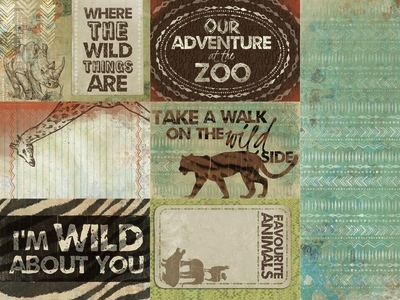 Safari 12x12 Double Sided Scrapbooking Paper
