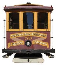 San Francisco Tram Scrapbooking Die Cut
