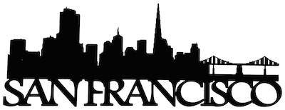 San Francisco Scrapbooking Laser Cut Title with Skyline