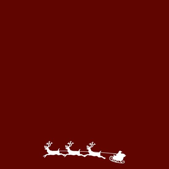 Santa Sleigh 12x12 Scrapbooking Paper