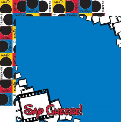 Say Cheese Double Sided 12x12 Scrapbooking Paper