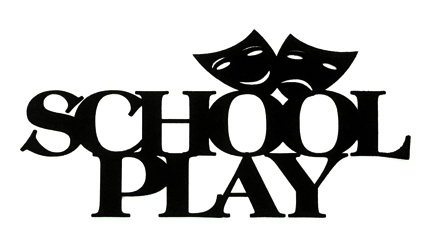 School Play Scrapbooking Laser Cut Title with Masks