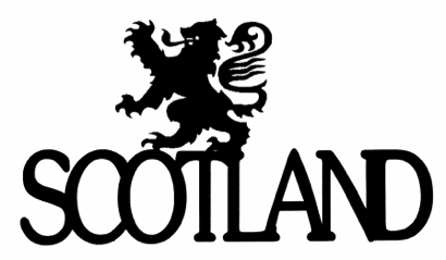 Scotland Scrapbooking Laser Cut Title with Emblem