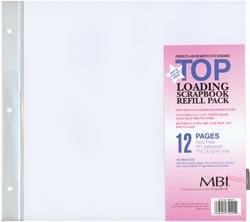 MBI Top Loading 12x12 Scrapbook Refill Pack