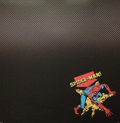 Secretive Spiderman 12x12 Scrapbooking Paper