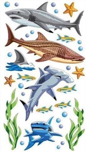 Sharks Scrapbooking Stickers