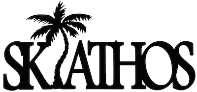 Skiathos Scrapbooking Laser Cut Title With Palm Tree