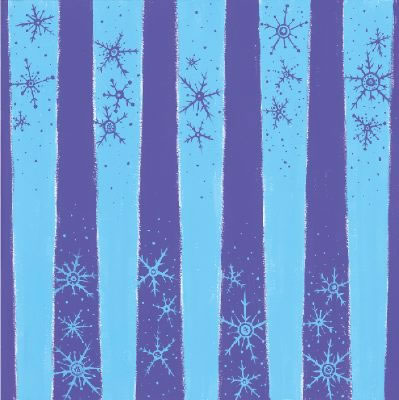 Snowflake Stripe Shimmer 12x12 Scrapbooking Paper