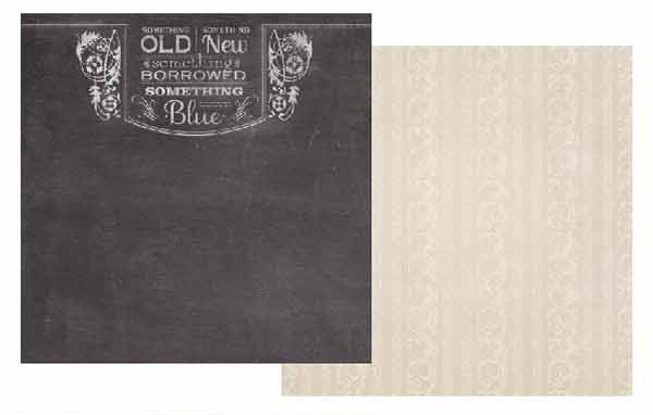 Something Old Something New 12x12 Double Sided Scrapbooking Paper