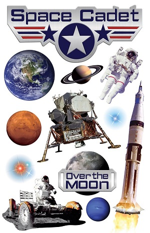 Space Cadet 3D Scrapbooking Stickers