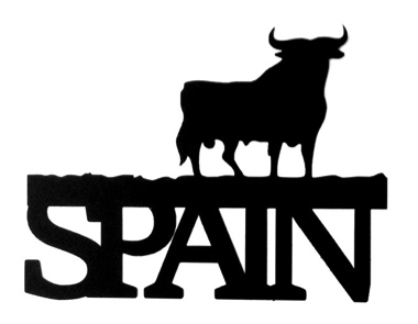 Spain Scrapbooking Laser Cut Title with Bull