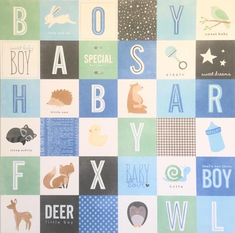 Special Boy 12x12 Scrapbooking Paper