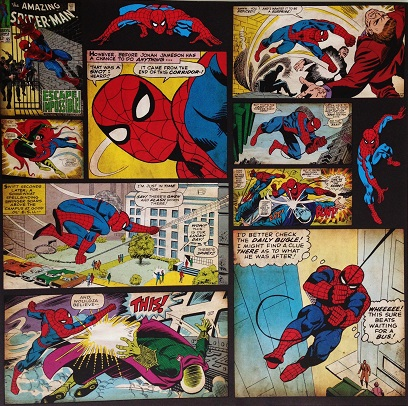 Spiderman Cartoon 12x12 Scrapbooking Paper