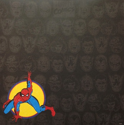 Spiderman Position 12x12 Scrapbooking Paper