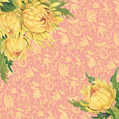 Spring Blossom Mums 12x12 Scrapbooking Paper