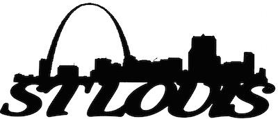 St Louis Scrapbooking Laser Cut Title with Skyline